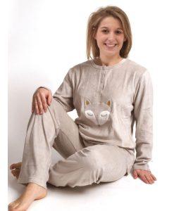 Pyjama lange mouwen wolf naya velours Cocodream