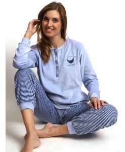 Pyjama lange mouwen good night velours Cocodream