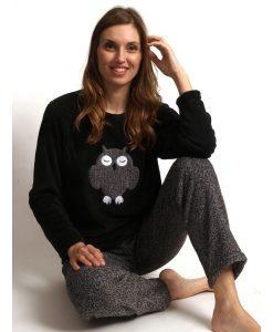 Pyjama lange mouwen uiltje coral fleece Cocodream