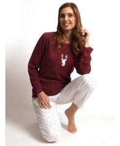 Pyjama Cocodream dames lange mouwen deer polar/flanel