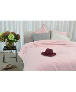 Dekbedovertrek Melee Flanel roze passion home linen