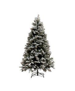 kerstboom besneeuwd