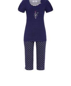 Pyjama Endless Love capribroek blauw Ringella