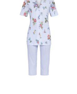 Pyjama Flower Stripes capribroek doorknoop Ringella