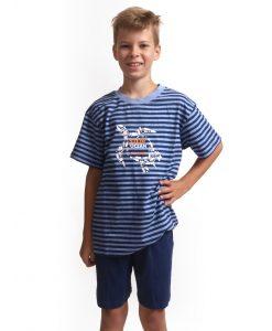 Outfitter pyjama korte mouwen jongens ocean