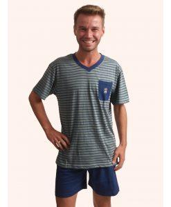 Outfitter pyjama korte mouwen heren aztec