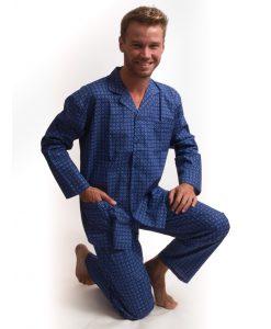 Outfitter pyjama lange mouwen heren tile doorknoop