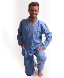 Outfitter pyjama lange mouwen heren ocean spirit doorknoop