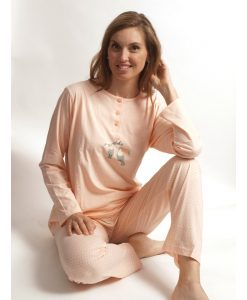 Cocodream pyjama lange mouwen dames aloha toucan