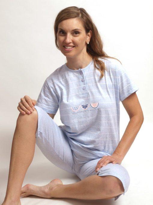 Cocodream pyjama 3/4 broek dames summer fruits