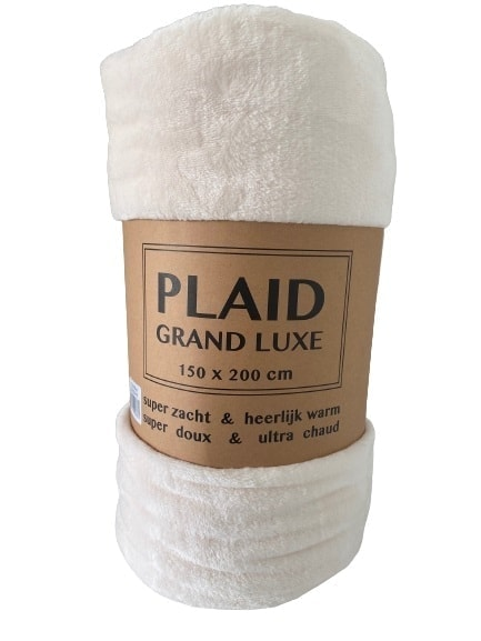 plaid grand luxe beige