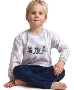 Outfitter - Pyjama lange mouwen jongens superhelden velours