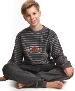 Outfitter - Pyjama lange mouwen jongens gamer velours