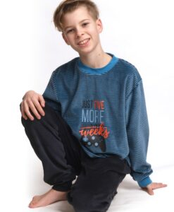 Outfitter - Pyjama lange mouwen jongens 5 more weeks velours