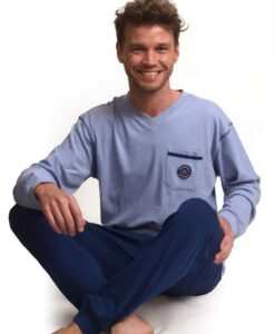 Outfitter - Pyjama lange mouwen heren vintage interlock