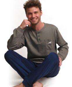 Outfitter - Pyjama lange mouwen heren forest interlock