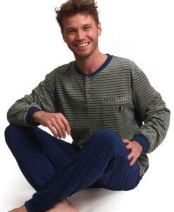 Outfitter - Pyjama lange mouwen heren star stretch
