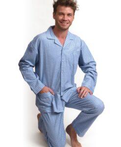 Outfitter - Pyjama lange mouwen heren buf knopen flanel