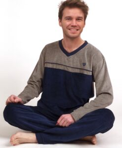 Outfitter - Pyjama lange mouwen heren knight velours