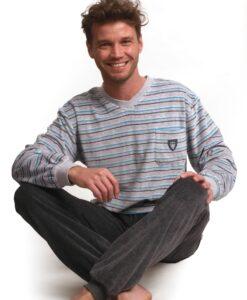 Outfitter - Pyjama lange mouwen heren alpha velours