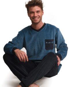 Outfitter - Pyjama lange mouwen heren #stayhome velours