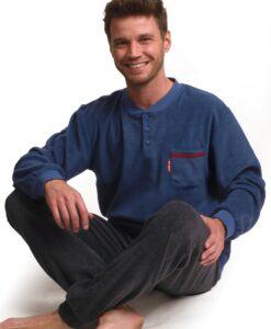 Outfitter - Pyjama lange mouwen heren stoneage polar fleece