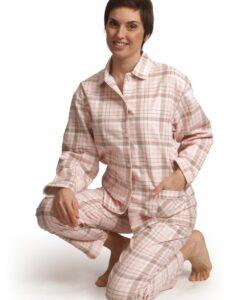 Cocodream - Pyjama lange mouwen dames sleepover knopen flanel