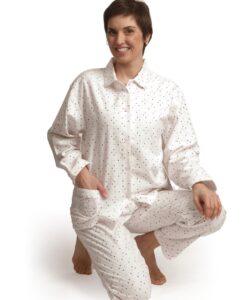 Cocodream - Pyjama lange mouwen dames hearts flanel