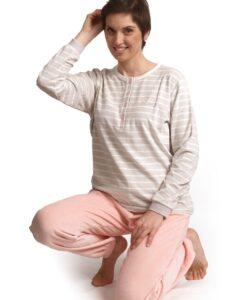Cocodream - Pyjama lange mouwen dames look velours