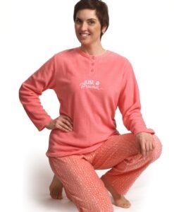 Cocodream - Pyjama lange mouwen dames just a dream fleece