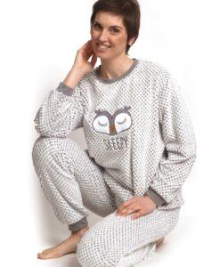 Cocodream - Pyjama lange mouwen dames sleepy uiltje fleece