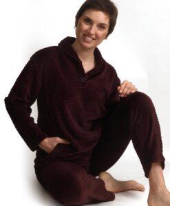 Cocodream - pyjama lange mouwen dames wave fleece