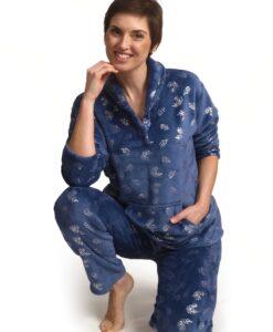 Cocodream - Pyjama lange mouwen dames vallende blaadjes fleece