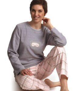 Cocodream - Pyjama lange mouwen dames sleepover flanel-fleece